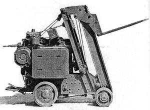 Wózek widłowy z przeciwwagą