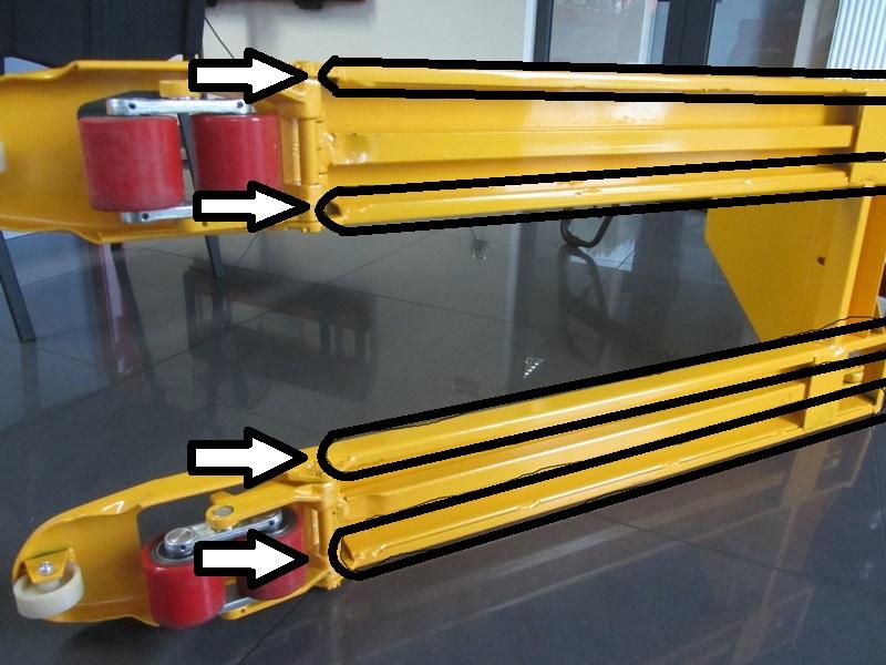 Solidne wózki paletowe - obustronne wzmocnienie wideł
